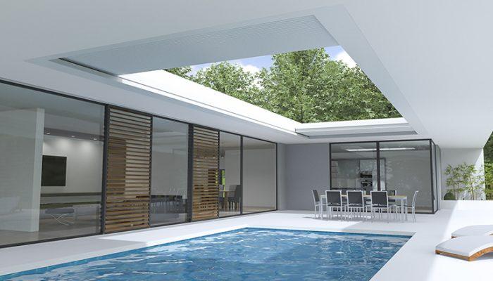 un magnifique abri de piscine design