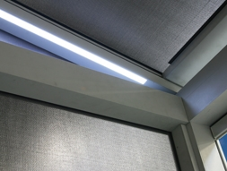 zoom sur les lumières led de côtés d'une pergola bioclimatique