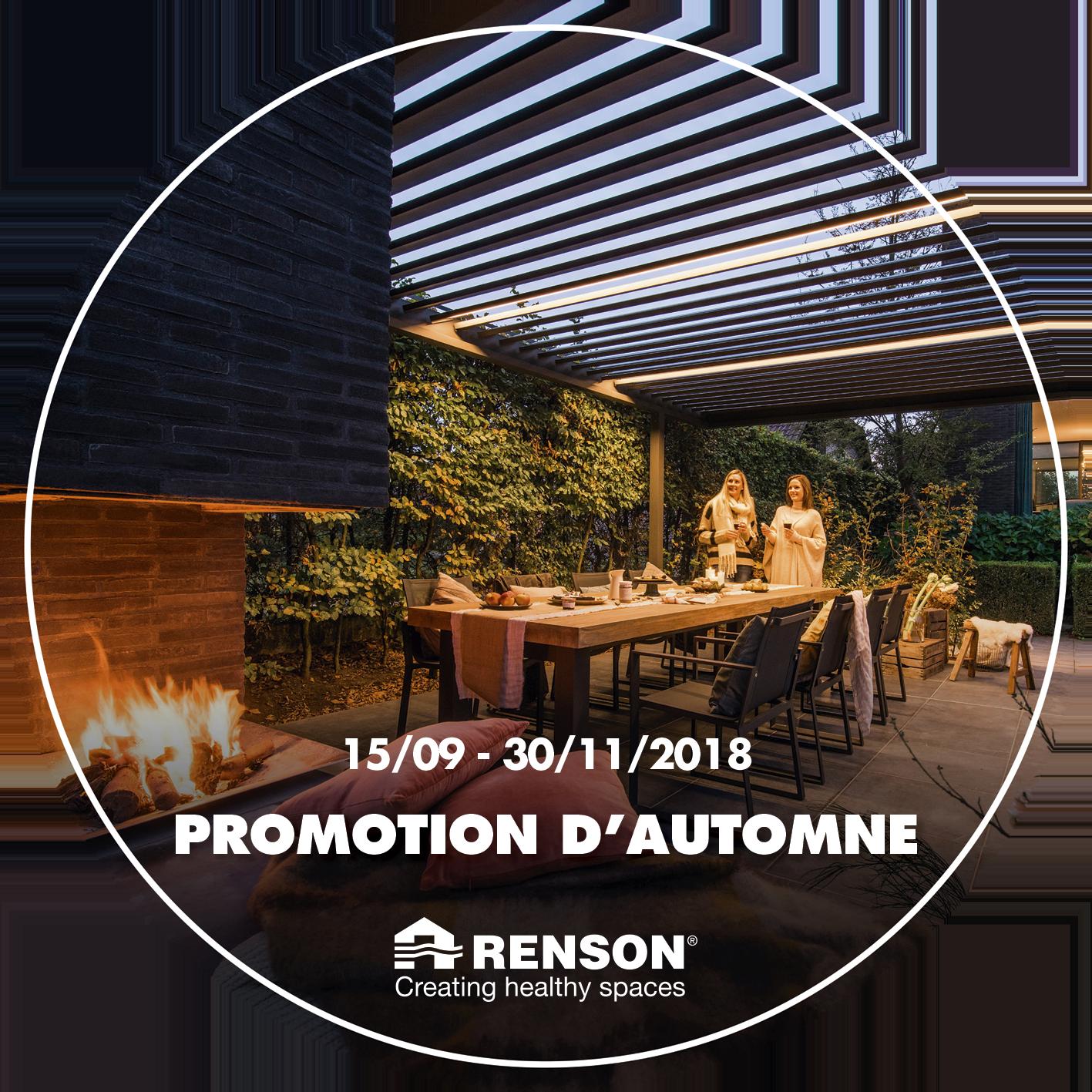 promotions d'automne RENSON
